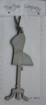 Mannequin gris déco de profil TBS10