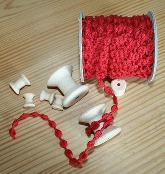 Serpentine fantaisie Rouge  par 50 cm
