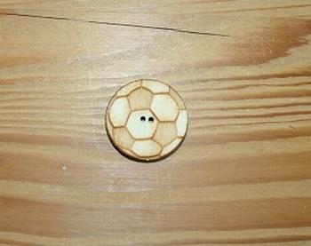 Boutons bois Ballon de Foot