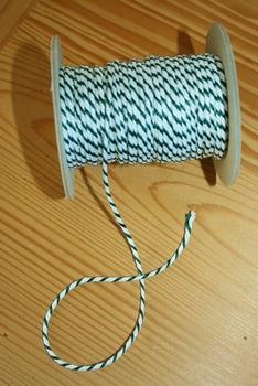 Cordelette bicolore Blanc/Vert