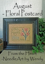 From the Heart August Floral Postcard