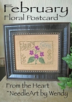 From the Heart February Floral Postcard