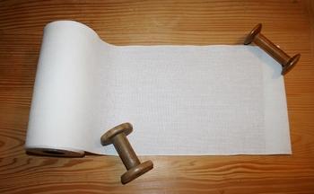 Bande lin 12,6 fils/cm Antique White 19cm  par 50 cm