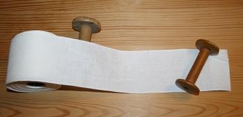 Bande lin 12,6 fils/cm Antique White 8cm  par 50 cm