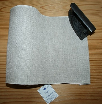 Bande à broder Vaupel 20cm Nature liseré écru  par 50 cm