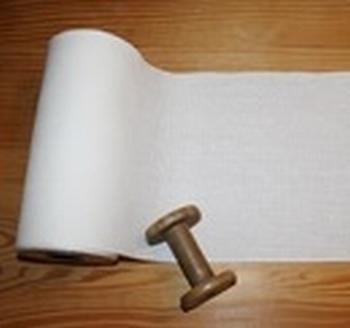 Bande à broder Vaupel 16 cm Blanc Cassé 14 fils  par 50 cm