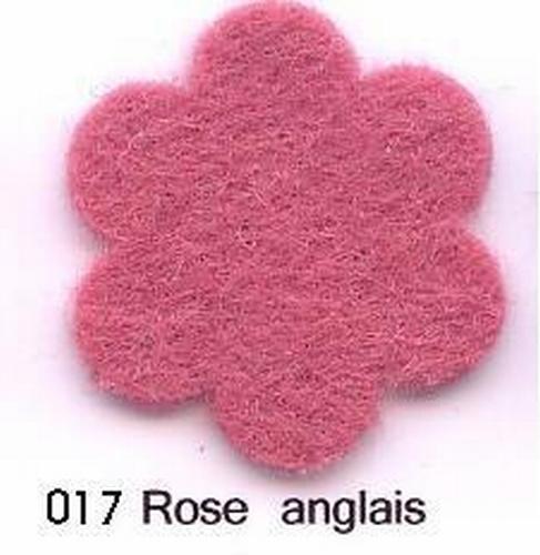 Feutrine Rose Anglais CP017