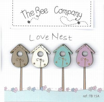 Boutons Love Nest Bee Cie TB15A