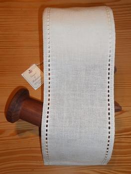 Bande à broder Vaupel Lisière Ajourée Blanc cassé 12cm  par 50 cm