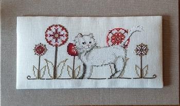 Serenita di Campagna Un gattino tra i fiori CV126