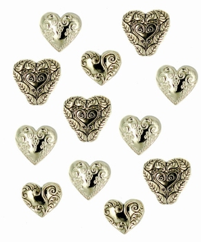 Dress it up Assorted Gold Heart