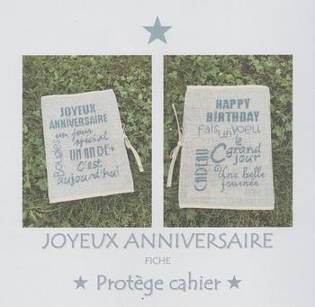 Joyeux Anniversaire Protège Cahier AFDLY