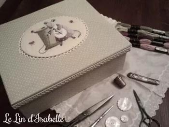 Boîte à Ouvrages Souris, Le Lin d'Isabelle