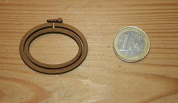 Mini Tambour Ovale Paysage Moyen Modèle