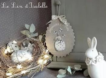 Petit Lapin Oeuf de Pâques, Le Lin d'Isabelle