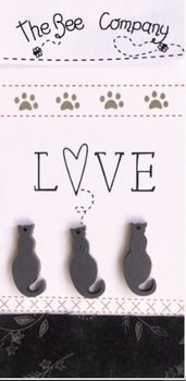 Chats Love Gris Bee Cie TBM26G