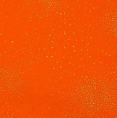 Feutrine Orange pailletée