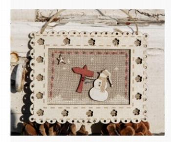 Cadre Noël Bonhomme de neige & Panneau PCN2