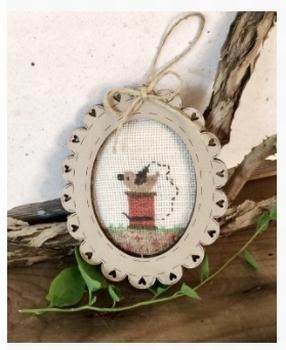 Mini Cadre Ovale Oiseau Bee Cie