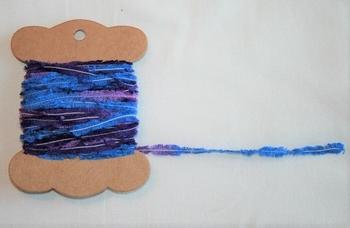 MAB 1 Lacet fourrure Nuancé bleu/violet