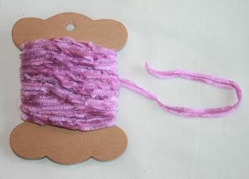 MAB 31 Lacet fourrure plat Mauve
