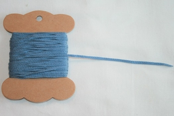 MAB 41 Lacet plat Bleu Gris