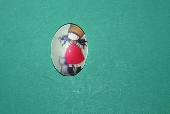 Cabochon Ovale Poupée n°4