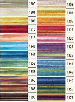 Fil Mouliné Anchor Multicolore de la référence 1300 à 1390