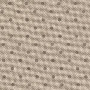Zweigart Murano 12,6 fils Beige à pois brun