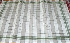 Torchon à broder Pétrus Bicolore Motif Vert