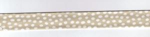 Biais plié Pois blancs sur fond beige