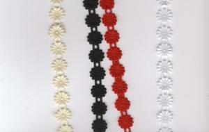 Ruban fleur thermocollant  par 50 cm