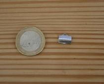 Fermoir griffe argenté 10mm