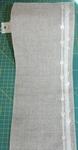 Bande à broder Vaupel 14 cm lisière coeur fond naturel par 50 cm