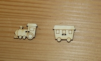 Boutons bois Train