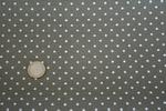 Belfast 12,6 fils/cm Taupe Pois Blancs