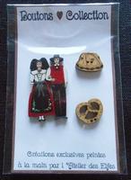 Boutons Couple Alsaciens, kougelhopf et bretzels