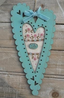 Love Cadre Coeur Turquoise Bee Cie FTC16
