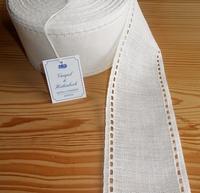 Bande à broder Vaupel Lisière Ajourée Blanc cassé 8cm par 50 cm