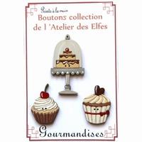 Boutons 3 patisseries  Atelier des Elfes