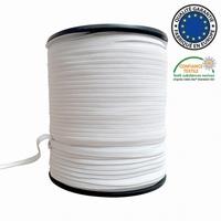 Elastique plat 5 mm Blanc  au metre