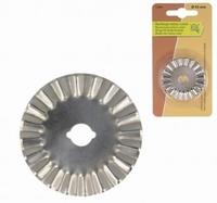 Lame de rechange pour cutter rotatif 45 mm crantée