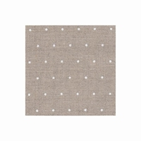 Edinburgh 14 fils Mini Dots blanc sur fond naturel