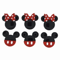 Dress it up Disney Mickey and Minnie Glitter