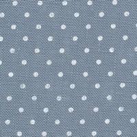 Belfast 12,6 fils/cm Bleu gris à pois blanc
