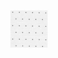 Edinburgh 14 fils Mini Dots Gris sur fond blanc