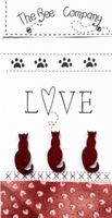 Chats Love Rouge Bee Cie TBM26R