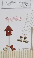 Boutons Happy Winter  Bee Cie TBN16
