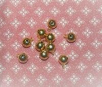 10 grelots dorés 10 mm
