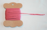 MAB 12 Lacet plat Vieux rose